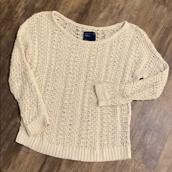 American Eagle Outfitters Sweaters - American Eagle cream knit sweater size large